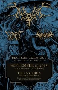 Begrime Exemious / Vomiit / Svneatr :: Astoria Pub @ Astoria Pub | Vancouver | British Columbia | Canada