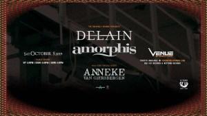 DELAIN | AMORPHIS | Anneke Van Giersbergen @ Venue Nightclub | Vancouver | British Columbia | Canada