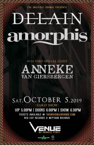 DELAIN | AMORPHIS | Anneke Van Gierbergen @ Venue Nightclub | Vancouver | British Columbia | Canada