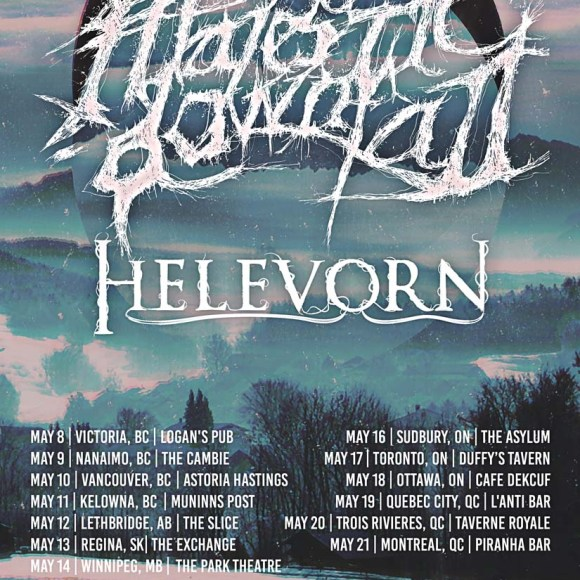 MAJESTIC DOWNFALL / HELEVORN – SHADOWING OF THE NORTH, CANADA TOUR 2019