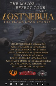 LOST NEBULA - THE MAJOR EFFECT TOUR 2019 @ VARIOUS ACROSS BC AND ALBERTA