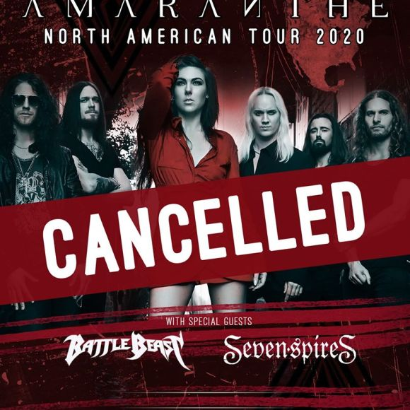 AMARANTHE Announce The Cancellation Of Their North American 2020 Tour