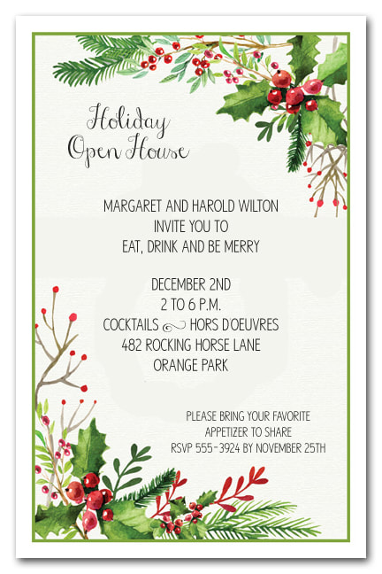 Christmas Holiday Invitations The Invitation Shop