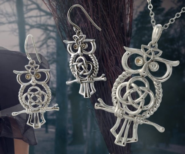 Celtic Owl Pendant by The Irish Jewelry Company