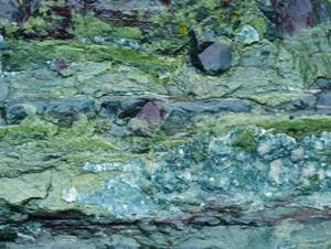 Rock mineralisation on the Copper Coast - The Irish Place
