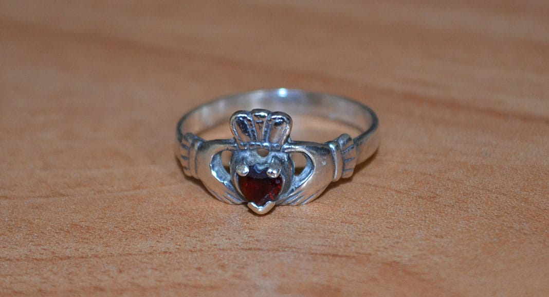 Irish Claddagh Ring Meaning - A Claddagh Ring with Birthstone - The Irish Place
