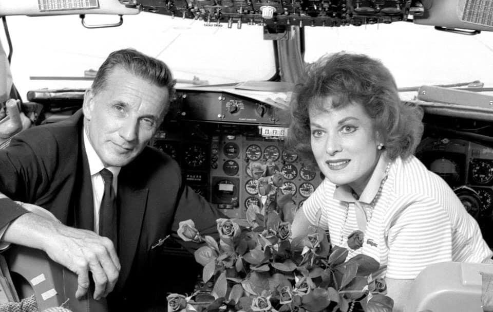Maureen O'Hara and her husband Capt. Charlie Blair - The Irish Place