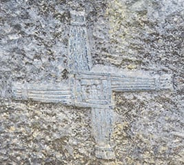 A carving of a St Brigit's Cross - The Irish Place