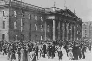 The ruins of the GPO after the rising in 1916 - The Irish Place