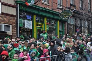 Revellers celebrating the St Patrick's Day Parade in Wappinger Falls, New York - The Irish Place