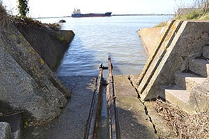 The remains of the launch rails at Cliffe Fort, Kent - The Irish Place