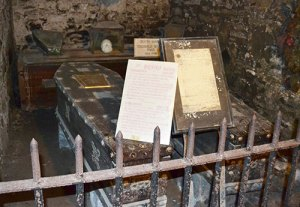 The coffins containing the remains of the Sheares Brothers in St Michan's Church - The Irish Place