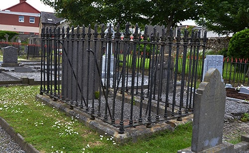 Another example of an Anti-bodysnatching grille, also known as a mortsafe. This one is located in the graveyard of St Mary's Church of Ireland, Dungarvan, Co. Waterford. - The Irish Place