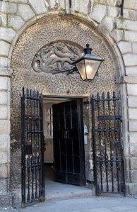 The Front Door of Kilmainham Gaol with the Hydra Motif - The Irish Place