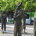 The statues depicting an emaciated weary group of individuals (Famine Memorial) - The Irish Place