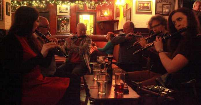 A session where the main instrument being played is the Irish Flute. Photo: Bob Singer - The Irish Place