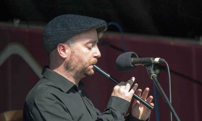 Cathal Harkin of the Paddy Ryan Band on Tin Whistle