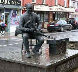 The Willie Clancy Memorial Sculpture in Miltown Malbay, Co. Clare. - The Irish Place