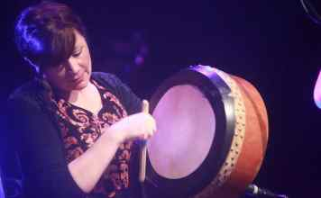 Kathy Jordan playing the Bodhrán - The Irish Place