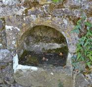 Holy Water Stoup in Seskinan Church - The Irish Place