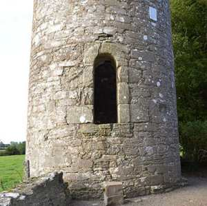 Entrance door into the Round Tower at Kilree - The Irish Place
