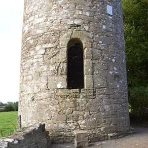 The door the Round Tower at Kilree Monastic Site - The Irish Place
