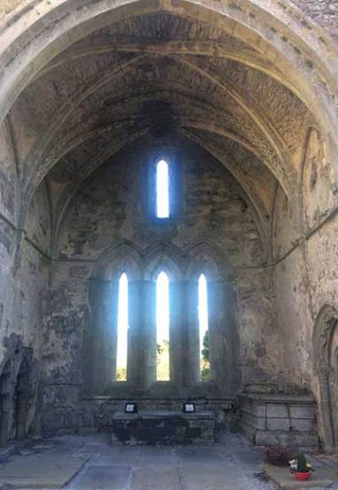The East Gable wall at Corcomroe Abbey - The Irish Place