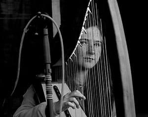 Harpist at Scoil Acla