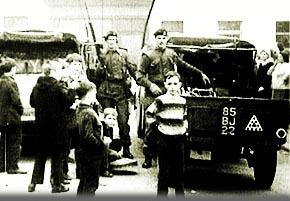 British troops in Belfast, 1971.