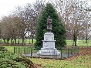 Seán Russel Statue in Fairview Park, Dublin.