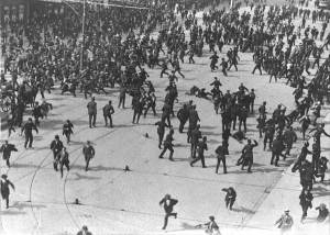 The 'Bloody Sunday' riot of August 1913.