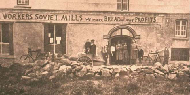 Bakery workers in Bruree in 1922 declare, 'We make Bread not profits'.