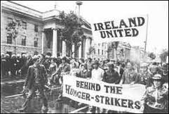A H-Block protest in Dublin. Both in Ireland and Britain the prisoners were part of a propaganda war during the Troubles.