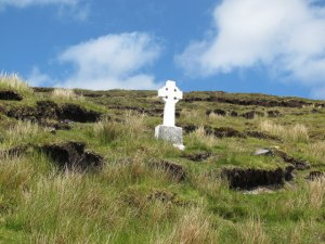 A memorial to anti-Treaty fighters killed on Ben Bulben in County Sligo in September 1922.