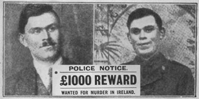 An RIC wanted poster for Dan Breen.