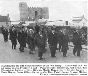 Carlow IRA veterans march in Carlow town in 1966.