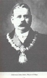 Jinks with the chains of the Mayor of Sligo.