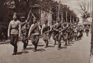 Soldiers from the Czech Legion, recruited by Russia from Czech prisoners of war.
