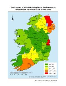 Total Irish KIA - IE Regts Only