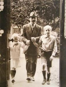 Griffith with his children. In Easter Week his first thought was to get them to safety.