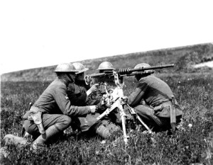 A Hotchkiss machine gun used by US troops in the Great War. It was also used in Ireland from 1919-21.