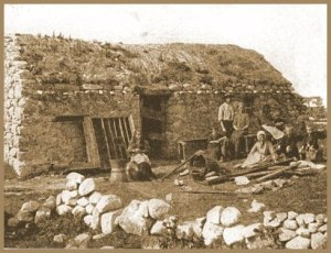 A poor family in 19th century Donegal.