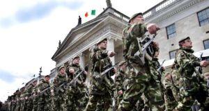 Irish Army troops at the 2006 parade.