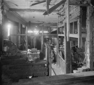 Figure 5, damage inside Liberty Hall.