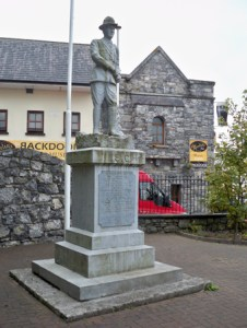 The monument the 1916 Rising in Oranmoe, Galway.