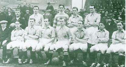 A pre-partition Irish team in 1914.