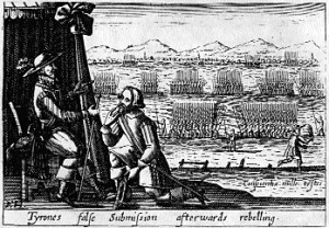 O'Neill submits to the English in 1603.