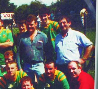 Martin Comerford lines up with the 1995 McArdle Cup-winning Brothers Pearse team