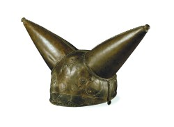 Celts: Art and Identity: Horned helmet Bronze  From the River Thames at Waterloo Bridge, London, England, 200-50 BC © The Trustees of the British Museum