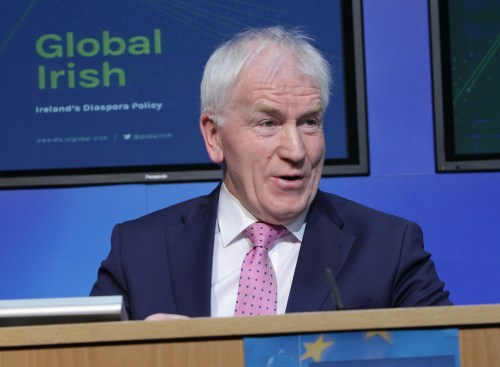 Ireland's Minister for the Diaspora Jimmy Deenihan Irish Government announce £4.7m emigrant support funding for UK